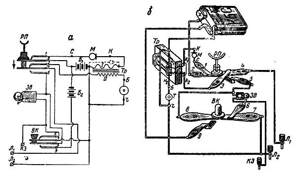 а - электрическая схема