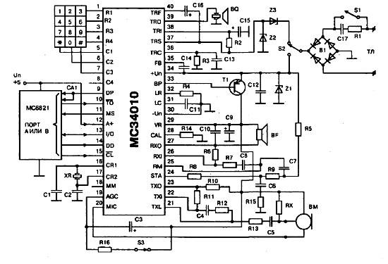 генератор DTMF,