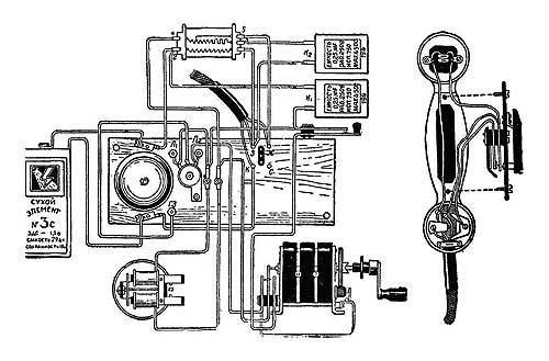 Монтажная схема телефонного